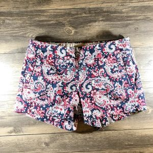 Excellent Condition J. Crew Paisley Shorts